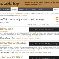 Chocolatey repository website