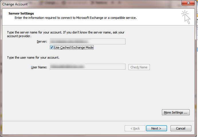 Outlook - Use Cached Exchange Mode