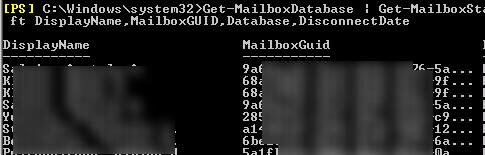 Remove-StoreMailbox  - removing disabled  mailboxes
