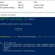 powershell create registry parameter