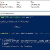 powershell create registry parameter