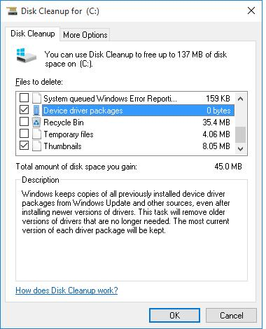 Cleanup Device driver packages - Windows 10