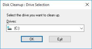 disk cleanup drive c