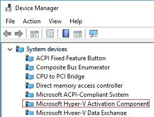 Microsoft Hyper-V Activation Component - device