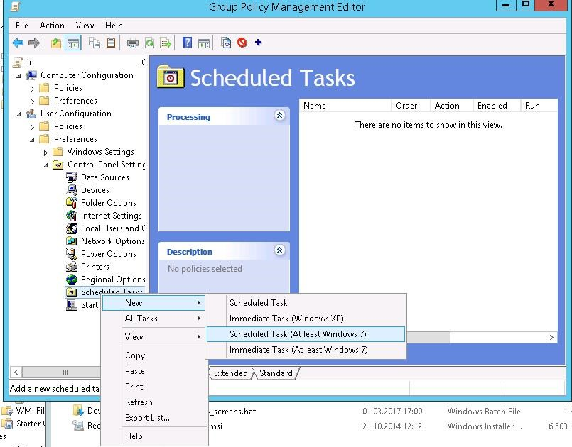 create GPO scheduled task