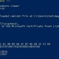 sigcheck: list cert not rooted in Microsoft Certificate Trust List