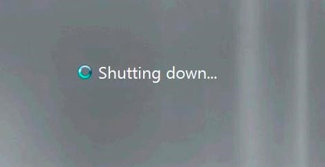 Shutting down windows message
