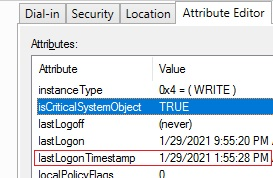 LastLogonTimeStamp attribute in active directory account properties