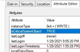 LastLogonTimeStamp attribute in active directory account properties