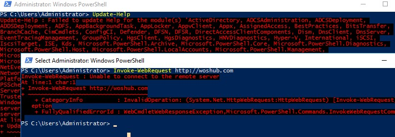 can't connect to the Internet from PowerShell over the authenticated proxy server
