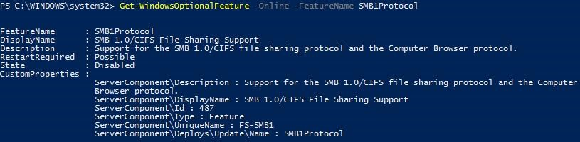 Remove Feature SMB1Protocol