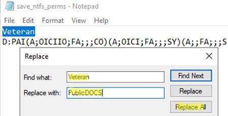 copy ntfs permissions between folders on Windows using command line tool