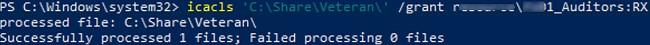 grant ntfs permissions on a folder via command line