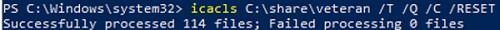 icacls reset folder ntfs permissions