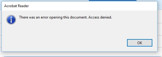 Fix \u0027Access Denied\u0027 Error in Adobe Reader 11 | Windows OS Hub