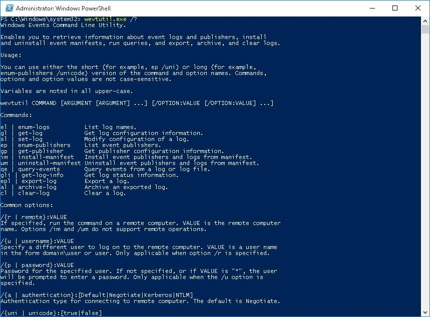 export event viewer logs remotely powershell