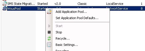 iis pool Recycle