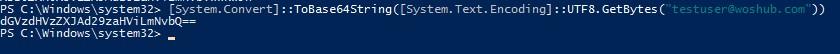 powershell encoding to ToBase64String