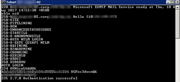 Sending Email via Telnet Using SMTP Authentication | Windows