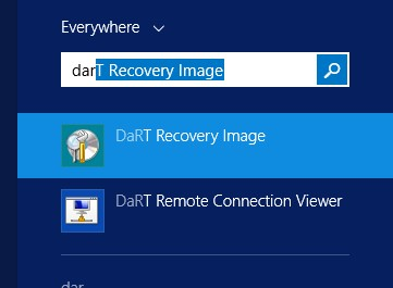 DaRT Recovery Image