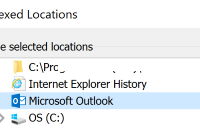 Disable the indexing for Microsoft Outlook