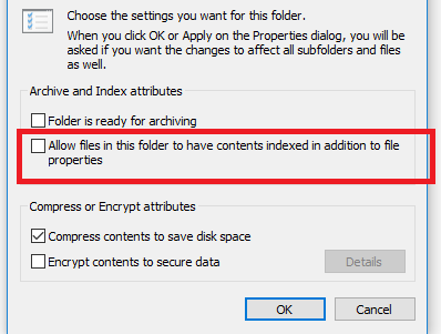 PST file - Allow this file to have context indexed in addition to file properties