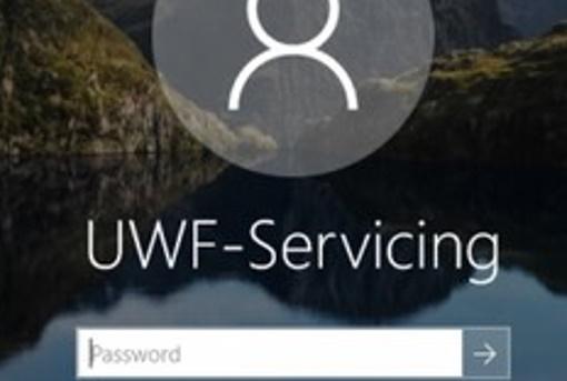 uwf servicing user account on windows 10
