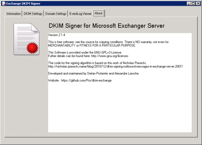 DKIM Signer for Exchange