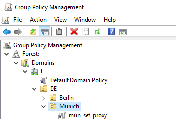create proxy gpo in an active directory domain