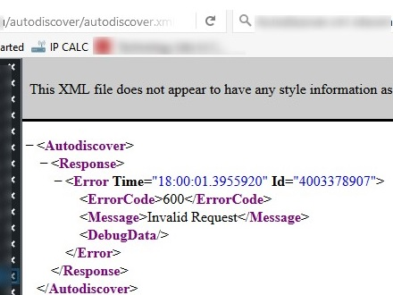 try to open autodiscover.xml on exchange