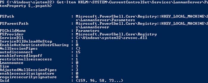 Checking smb version on Windows 7 SP1