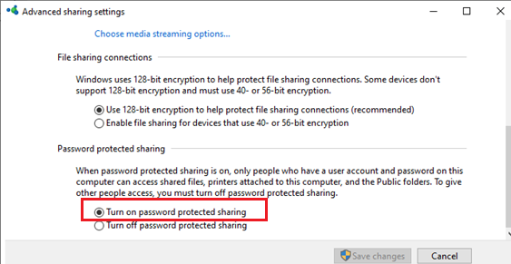 windows 10 - enable password protected sharing (to disable guest access)