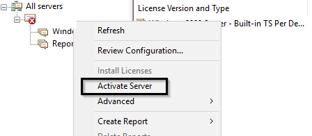 activa rds licensing server