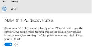 Make this PC discoverable