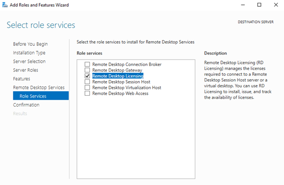 Remote Desktop Services Licensing service