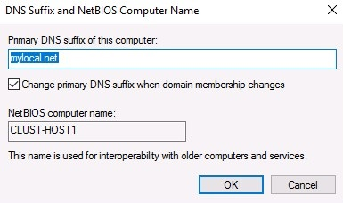 setting the same primary dns suffix