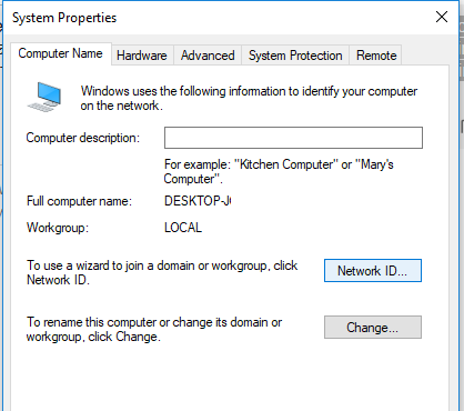 windows 10 Network ID wizard