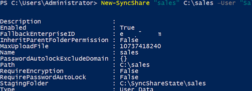 New-SyncShare powershell