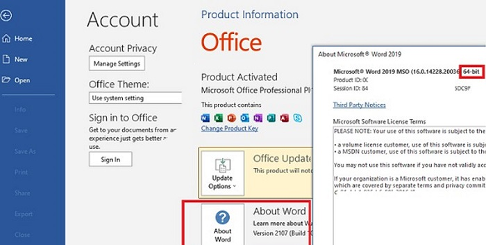 Checking Office Activation Status from GUI