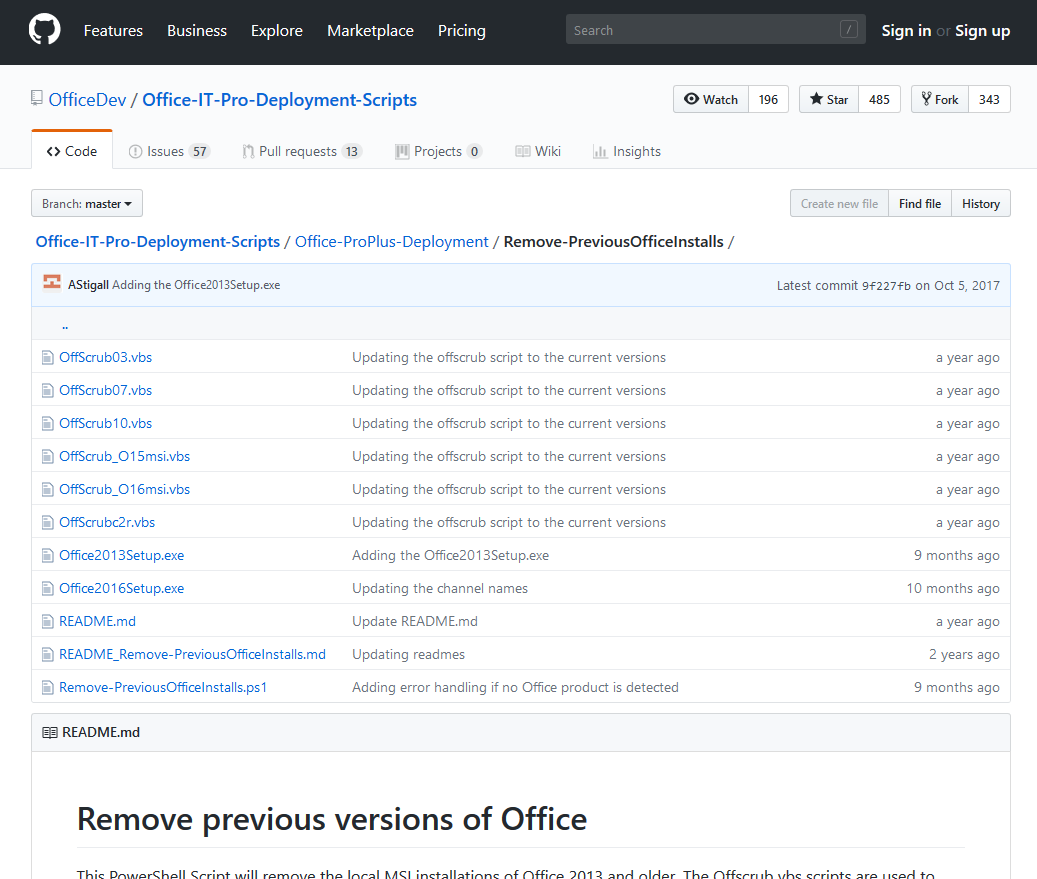 Office removal scripts - Offscrub on GitHub