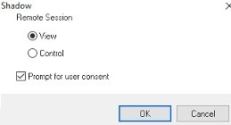 shadow connection to user remote desktop session on windows server 2016