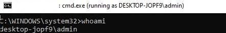 cmd running as different user in windows 10
