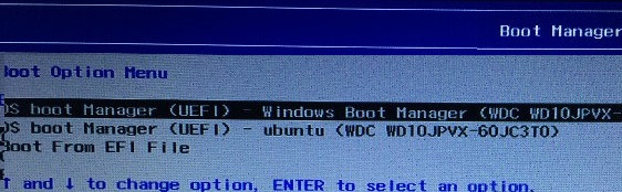 windows 10 uefi menu - run windows boot manager