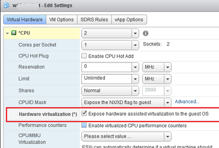 Expose hardware assisted virtualization to the guest OS