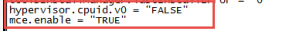 """mce.enable = """"TRUE"""""""