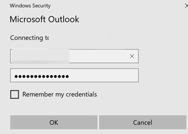 Outlook 2016 keeps asking for a password