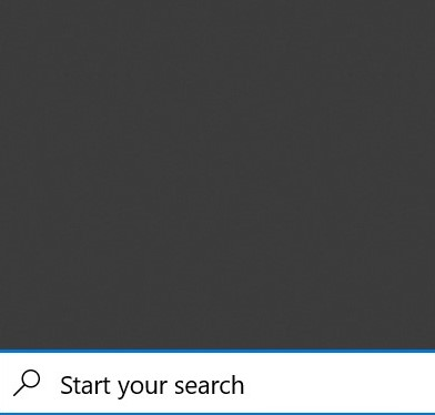 Windows 10 search giving blank results