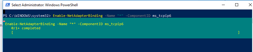 enable ipv6 using powershell